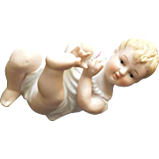 Old Bisque Doll Piano Baby Figurine