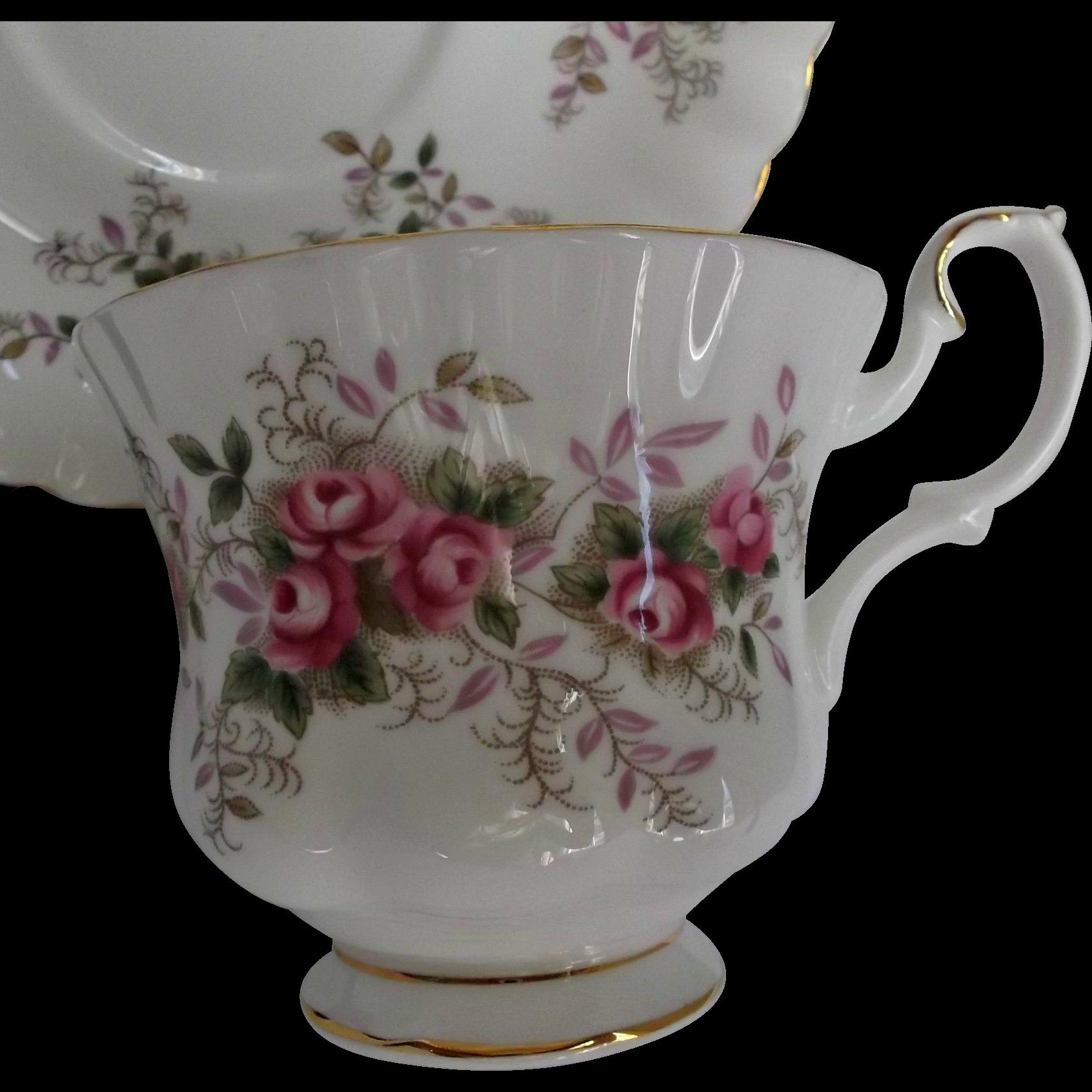 Royal Albert Lavender Rose Cup Saucer Vintage Bone China