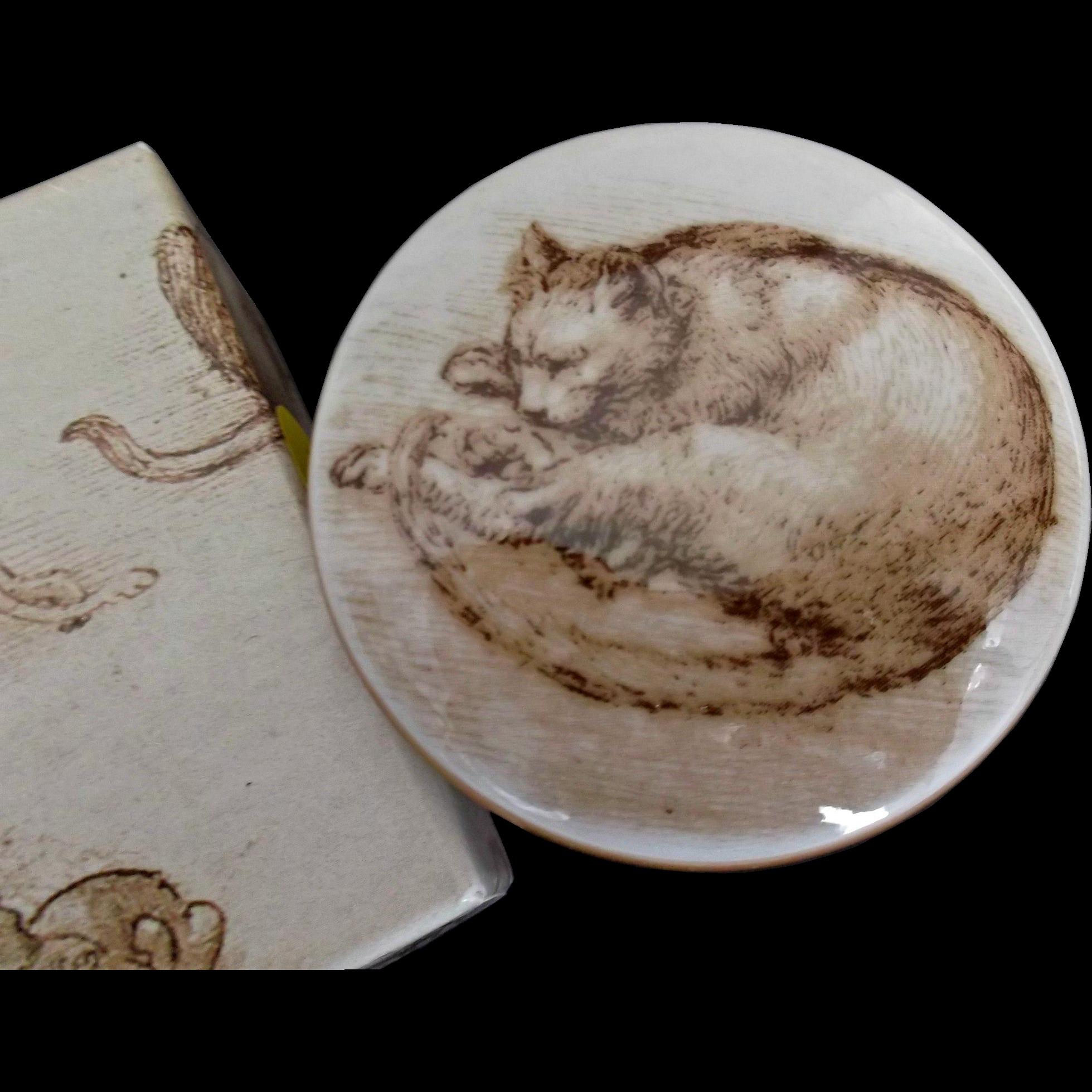 English Bone China Cat Box by the Royal Collection