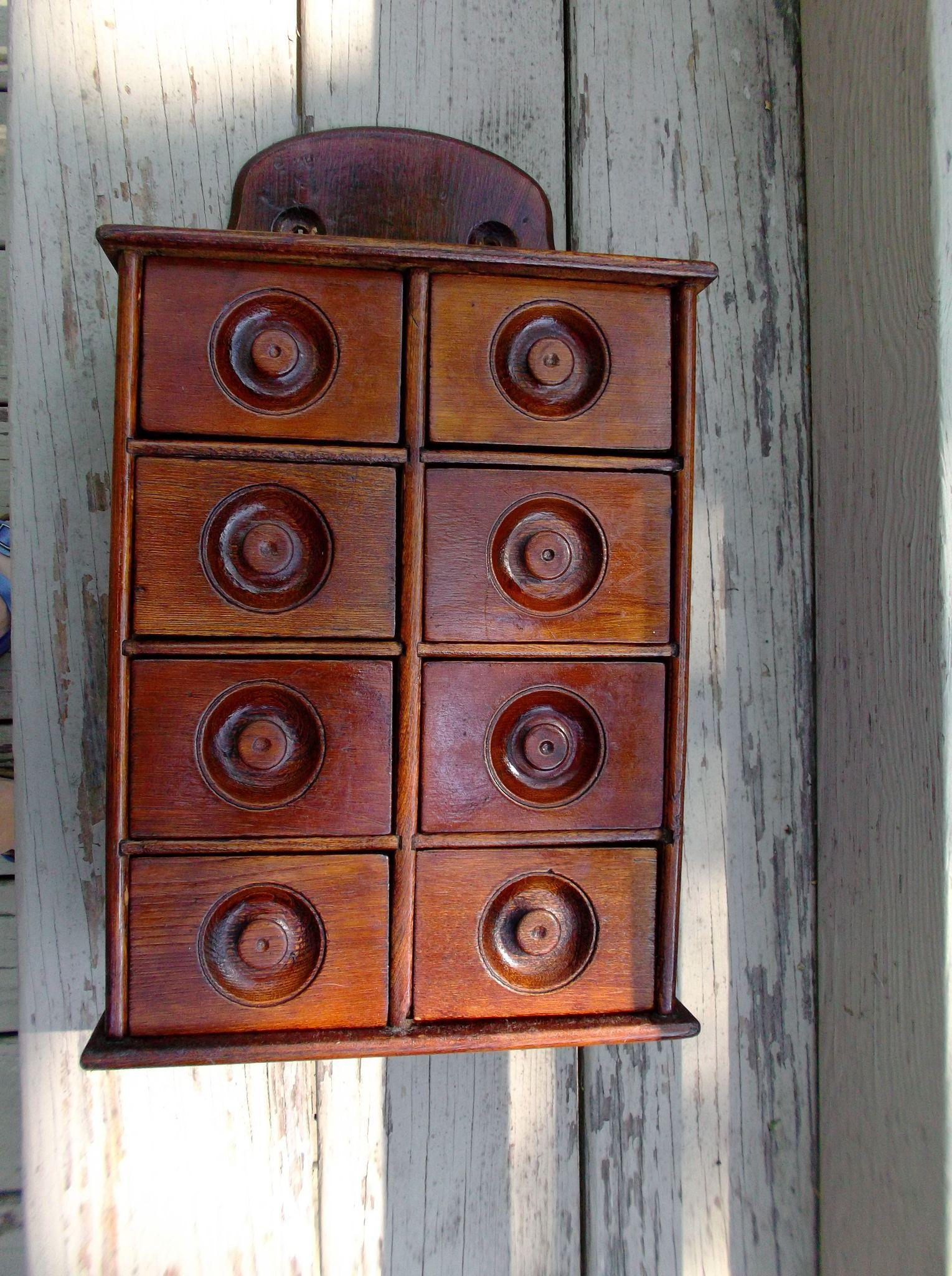 antique wood spice cabinet kitchen home decor from saltymaggie on roll over large image to magnify click large image to zoom