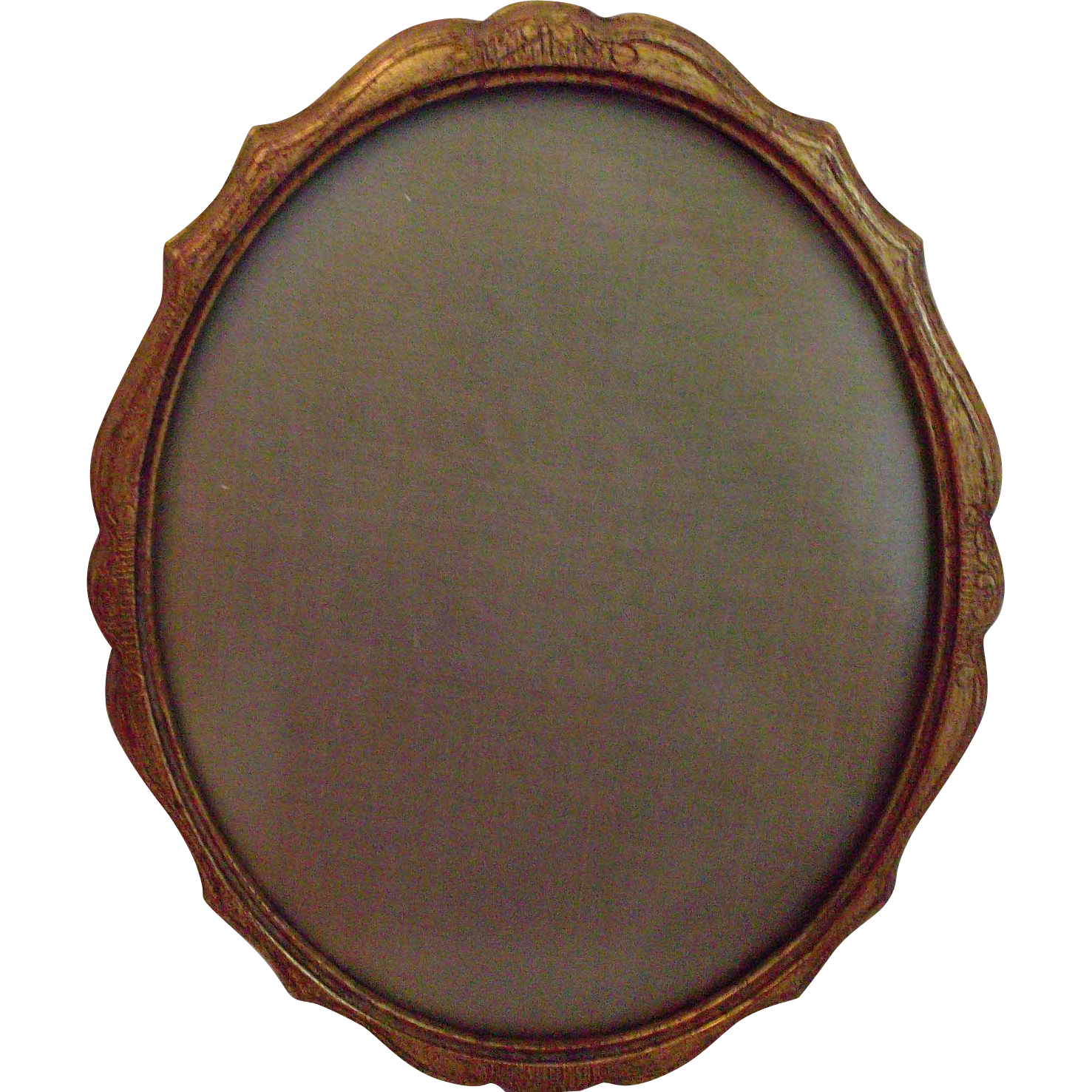 Italian Wood Carved Ormolu Picture Frame with Glass Vintage