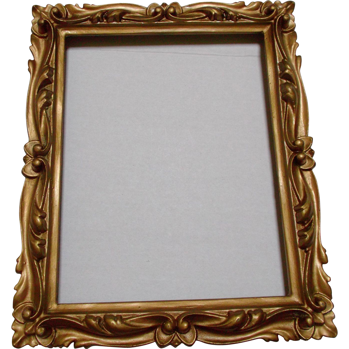 Carved Gold Wood Frame Vintage Ormolu Decorative