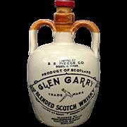 Pottery Jug of Glen Garry Blended Scotch Whisky S. S. Pierce Co. Vintage Barware