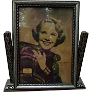 Vintage Wood Picture Frame with Mona Freeman Movie Star