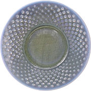 French Opalescent Hobnail Moonstone Glass Plates Elegant Vintage