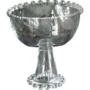Imperial Glass Vintage Candlewick Large Footed Compote Bowl