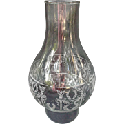 Glass Chimney Shade for Oil Lamp White Torches Wreaths