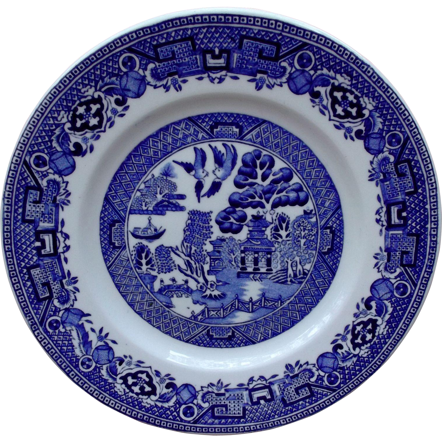 Ridgway Blue Willow Bread Desert Plates 1940's