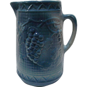 North Star Stoneware Salt Glazed Blue White Pitcher circa 1892-1896