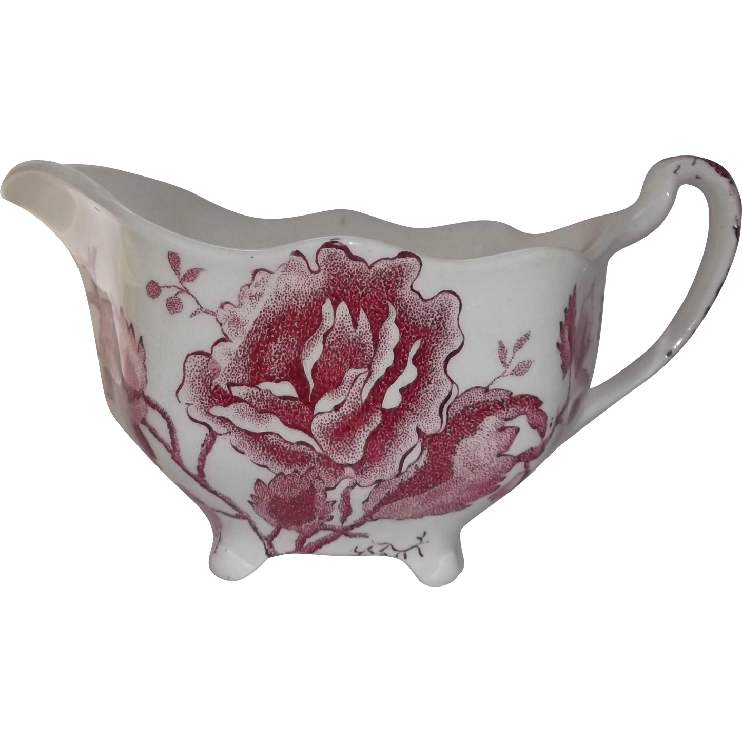 Johnson Brothers English Chippendale Pink Transfer Vintage Creamer