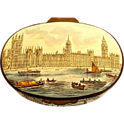 Crummles English Enamel Box Palace of Westminster Pills Trinkets