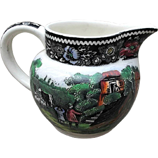Rural England Midwinter LTD Small Creamer Ploychrome Colors Transfer