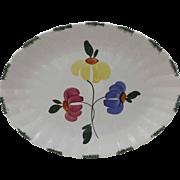 Blue Ridge Dinnerware Platter Painted Daisy Southern Potteries Blue Yellow Pink Green