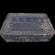Vintage Galway Irish Crystal Glass Box