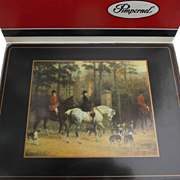 Pimpernel Vintage Set of Six Placemats Tally Ho Horses Fox Dogs