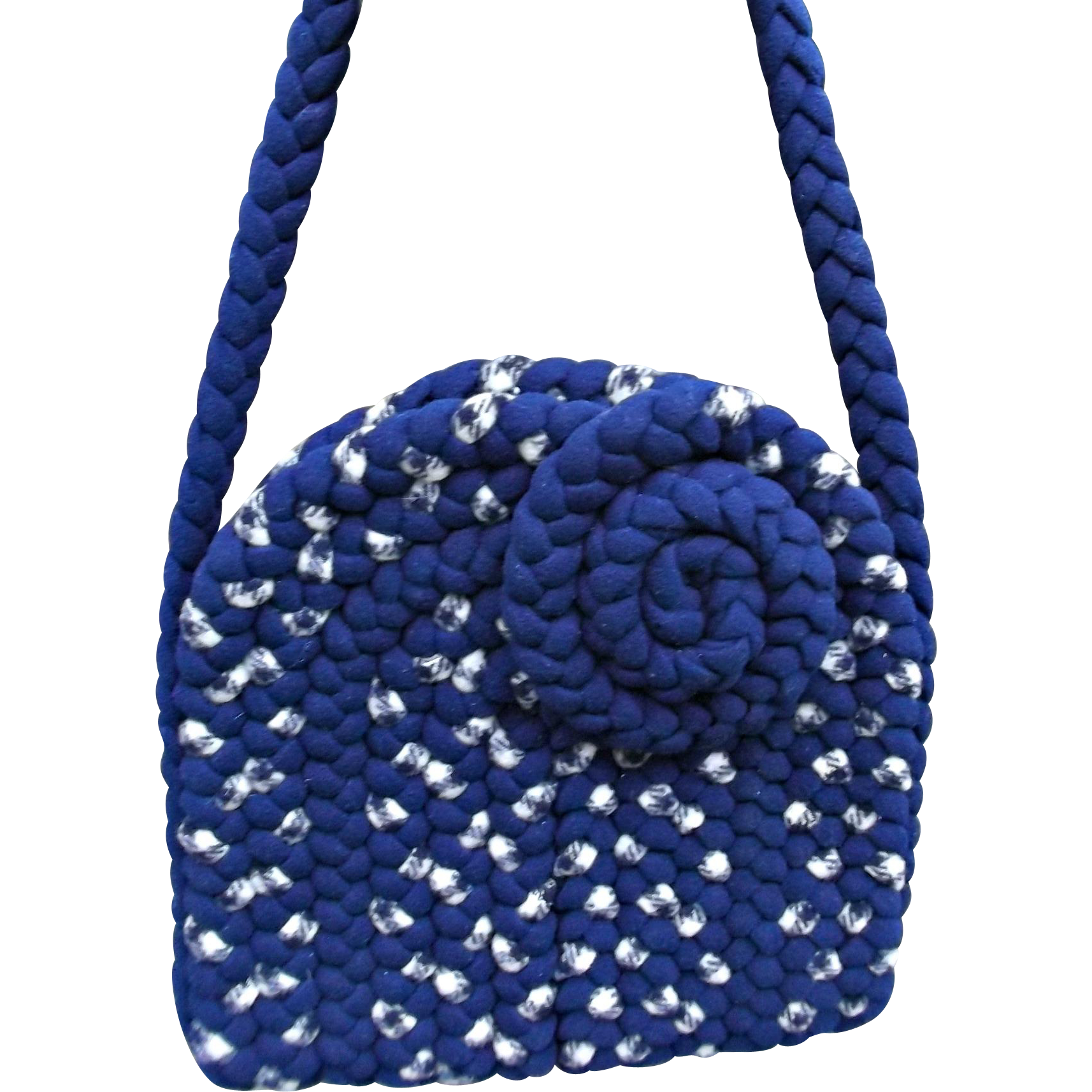 Vintage Braided Rug Bag Purse Handmade