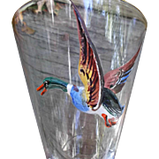 Applied Flying Duck Vintage Footed Glass Tumblers Hunters