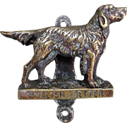 Vintage Brass Door Knocker English Setter Dog  Home Decor