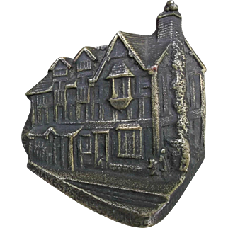 Vintage Small Brass Door Knocker Shakespeares House Home Decor