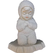 Vintage Department 56 Snowbaby Angel Now I Lay Me Down To Sleep