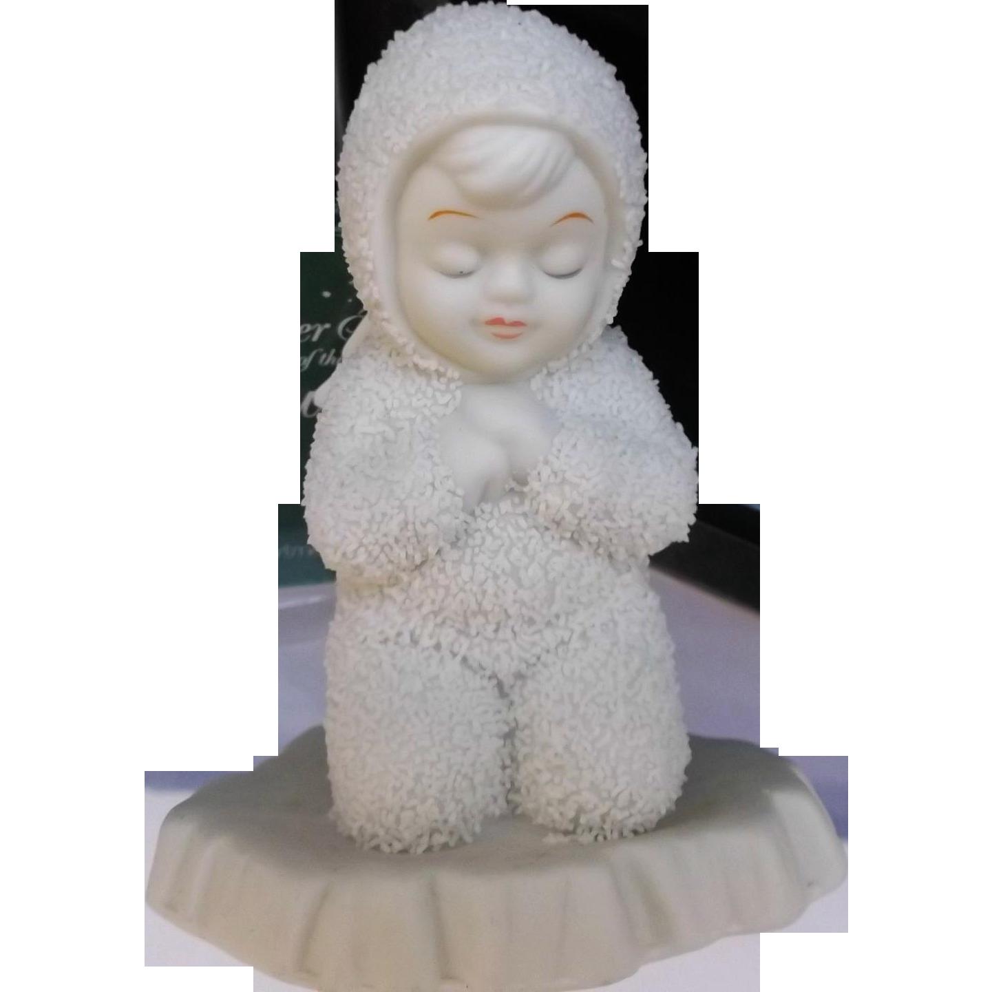 Snowbaby Angel Vintage Department 56 Now I Lay Me Down To Sleep