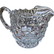 Fostoria Elegant Clear Glass American Pitcher Jug with Ice Lip Vintage