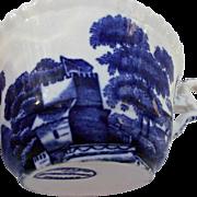 Copeland Spode's Tower England Set of Six Cups Flow Blue Vintage