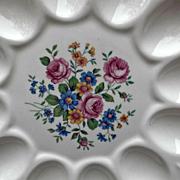 Vintage Ebeling & Reuss American Artware Floral Deviled Egg Plate