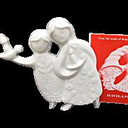 Vintage Haviland Limoges The Sleepy Angels 1976 Ornament Jean Jacques Prolongeau