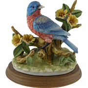 Jonathon Byron Porcelain Bluebird Figurine for Arnart Royal Crown 1980s Bird