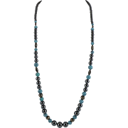 Hematite and Sterling Silver 28-inch Necklace