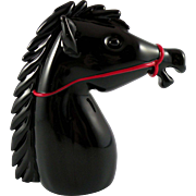 Archimede Seguso Black Horse Head made in Murano for Cartier
