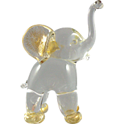Archimede Seguso Murano Glass Elephant Baby