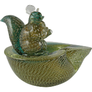 Archimede Seguso Murano Squirrel Bowl