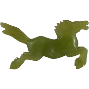 Chinese Carved Nephrite Jade Horse