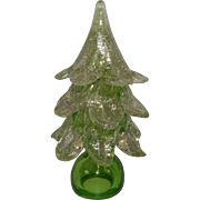 Murano Green Glass Christmas Tree with Silver