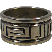 Troy Laner Navajo Silver Ring Size 6.25