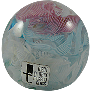 Fratelli Toso Murano Scramble Paperweight with Label