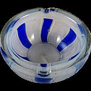 Barovier & Toso Murano Opaline Tessere Ashtray Bowl 1950s