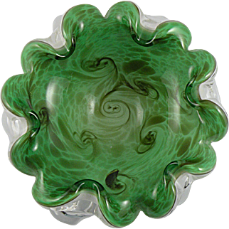 Fratelli Toso Murano Starry Night Ashtray Bowl