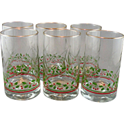 Christmas Holly Berry Tumbler Set made by Libbey for Arby's 1984