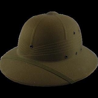 Vintage US Army Pith Safari Helmet
