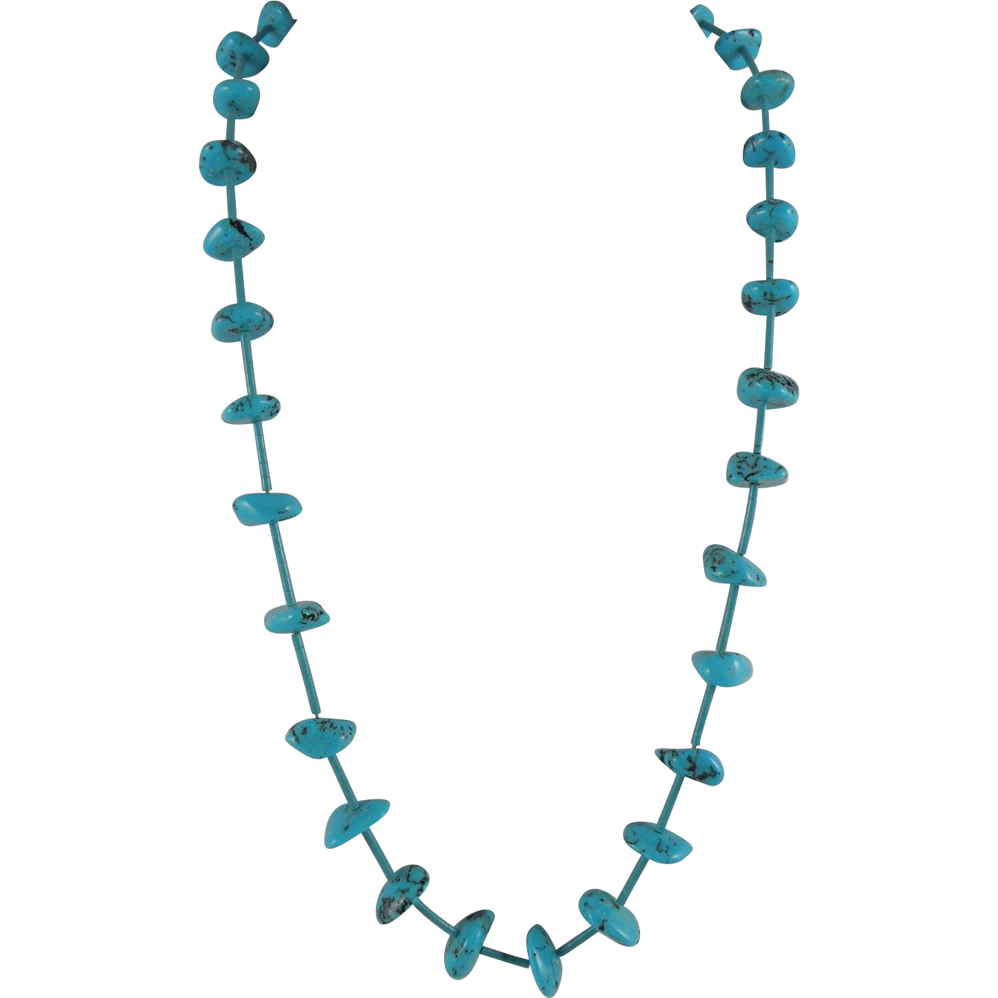 Native American Turquoise Necklace with Heishi