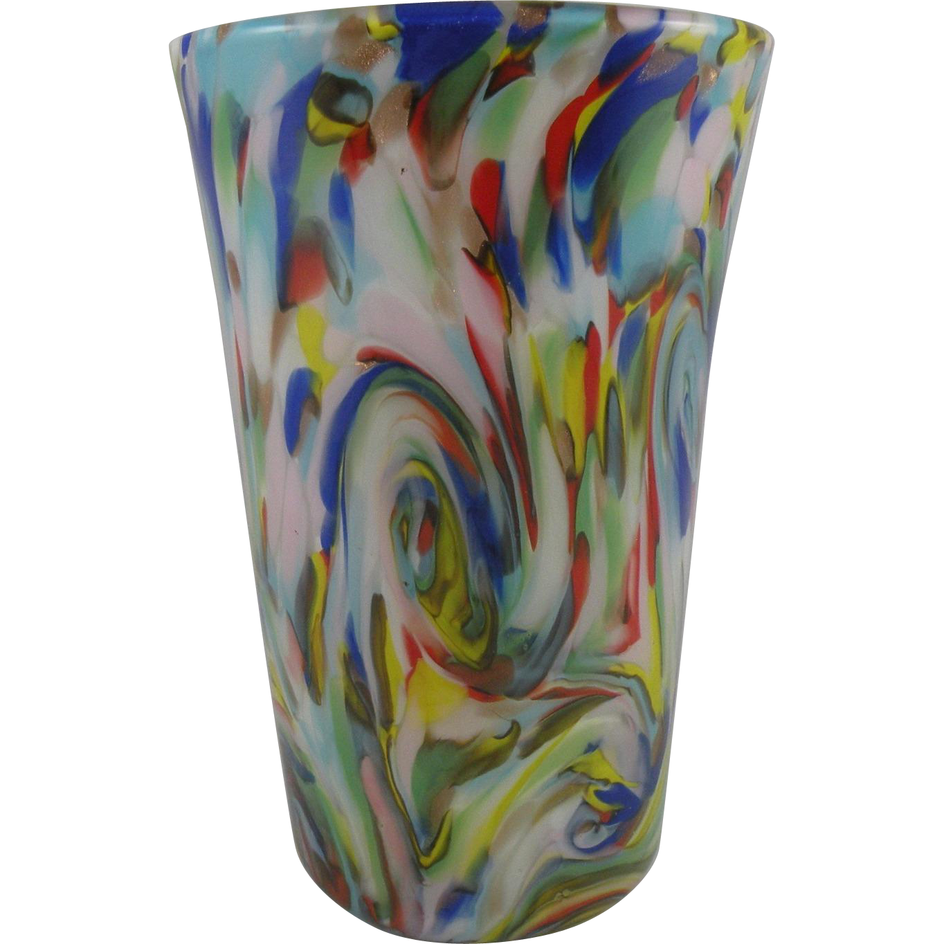 Fratelli Toso Colorful Apparenza Vase made in Murano