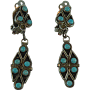 Vintage Native American Turquoise Clip-on Earrings