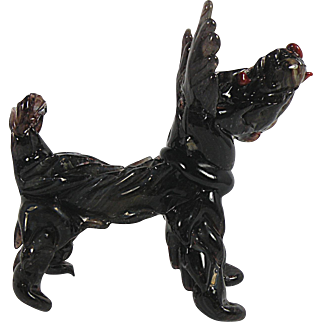 Art Glass Scottie Dog