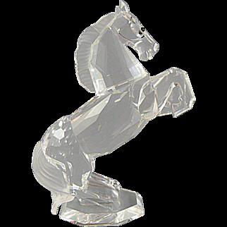Swarovski Crystal White Stallion Horse signed Martin Zendron 1993