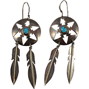 Donovan Skeets Navajo Sterling Silver Earrings with Turquoise