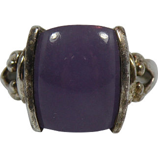 Vintage Purple Gemstone Sterling Silver Ring Size 6 from China