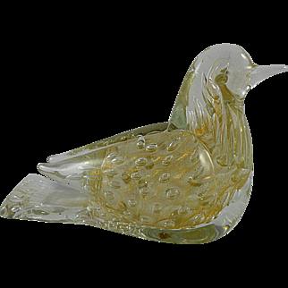 Barbini VAMSA Gold Murano Glass Bird with Label